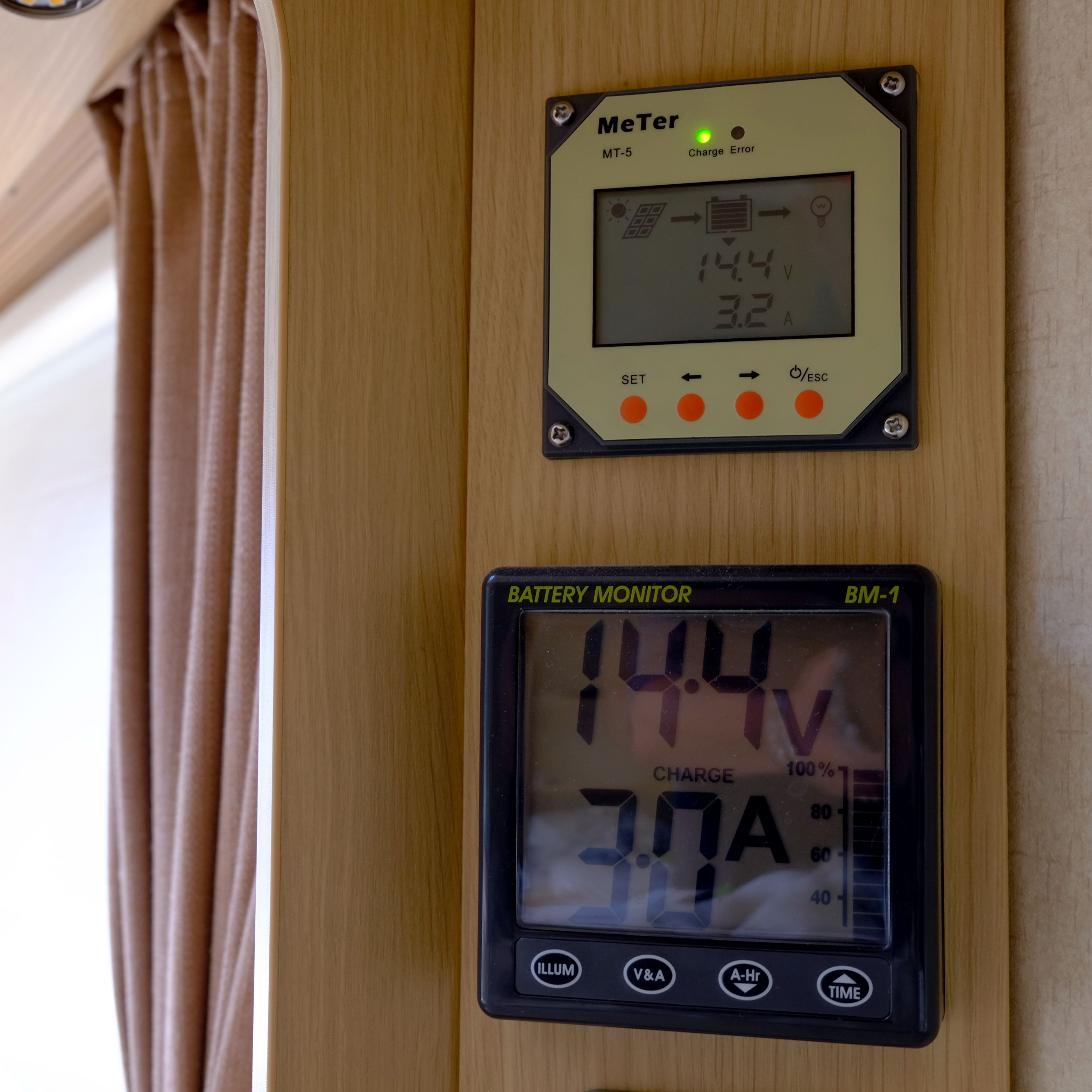 Solar charger and battery monitor